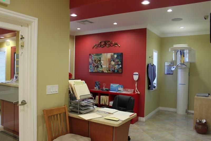 The receptionist area